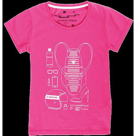 T-shirt  City Pack Lady fucsia Dainese