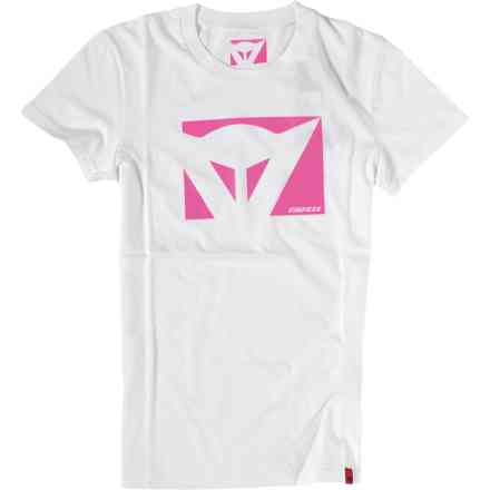 T-Shirt Color New Lady blanc fuxia Dainese