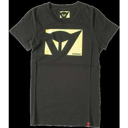 T-shirt Color New lady nero-giallo fluo Dainese