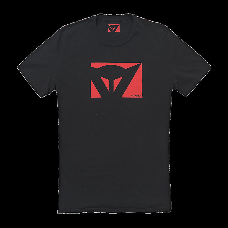 T-shirt Color New  nero-rosso Dainese