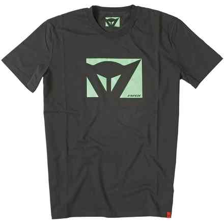 T-shirt Color New nero-verde fluo Dainese