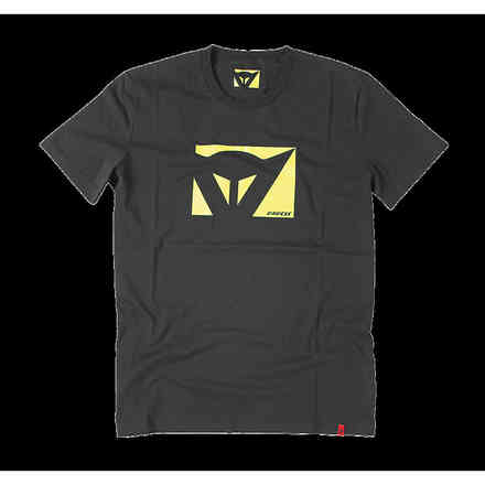 T-shirt Color New Schwarz Gelb fluo Dainese