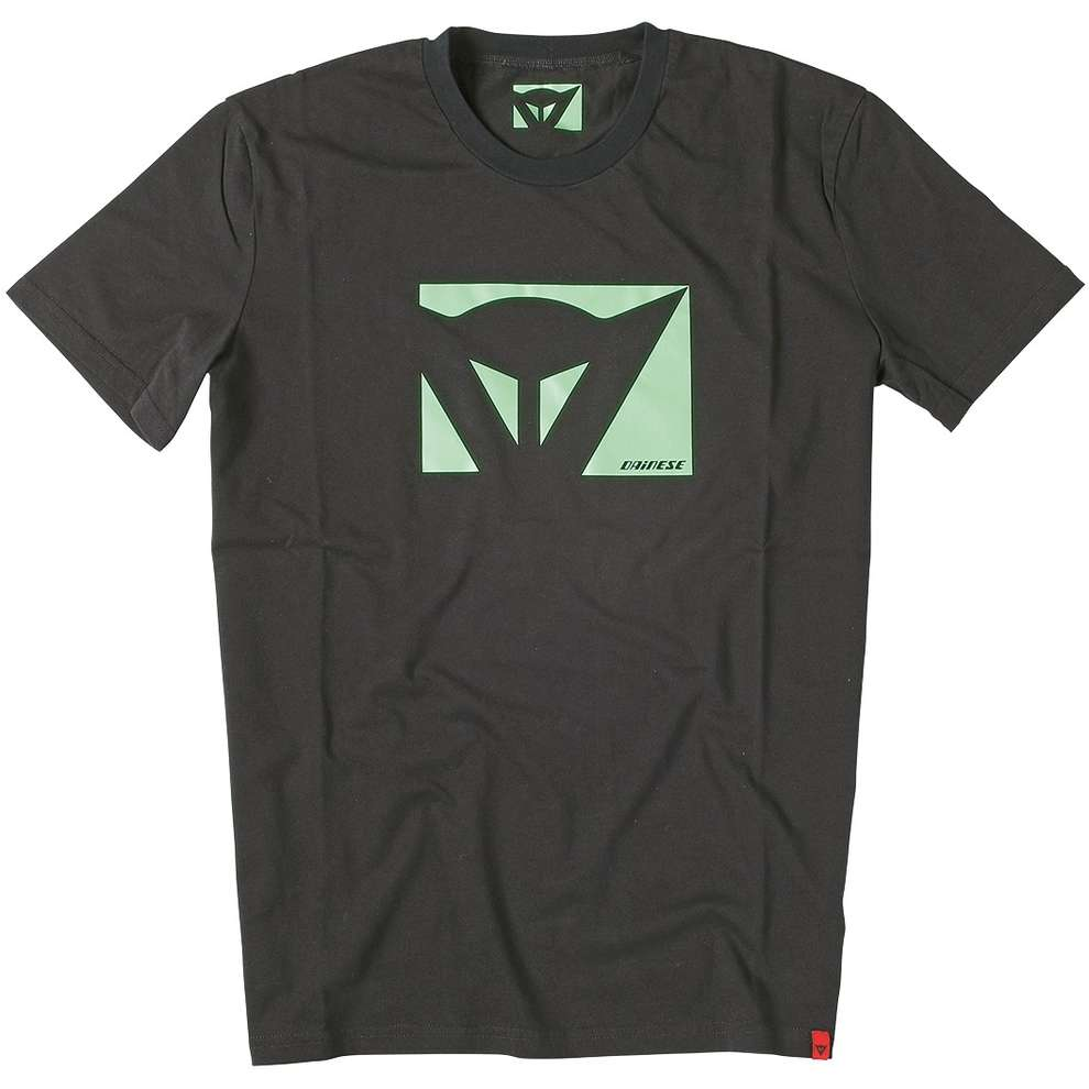 T-shirt  Color New Schwarz-grun fluo Dainese