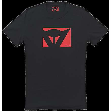 T-shirt  Color New Schwarz-Rot Dainese