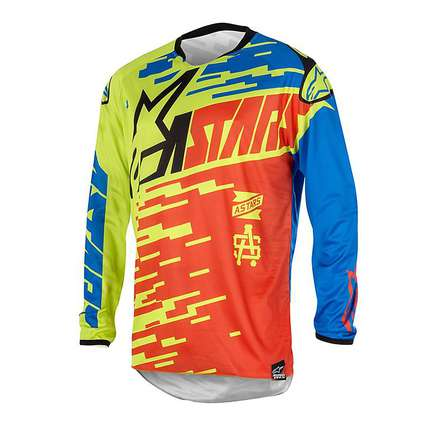 T-shirt cross Racer Braap 2016 Rot-Blau Alpinestars