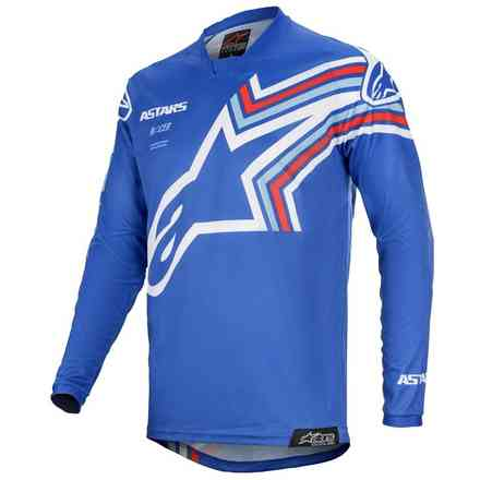 T-shirt Cross Racer Braap blau Weiß Alpinestars