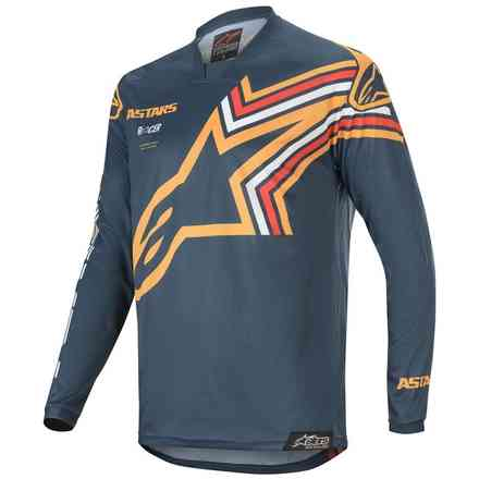 T-shirt Cross Racer Braap Navy Orange Alpinestars