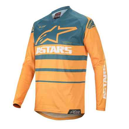 T-shirt Cross Racer Supermatic orange Petrol Alpinestars