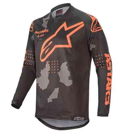 T-shirt Cross Racer Tactical Schwarz Grau Camo Orange Fluo  Alpinestars