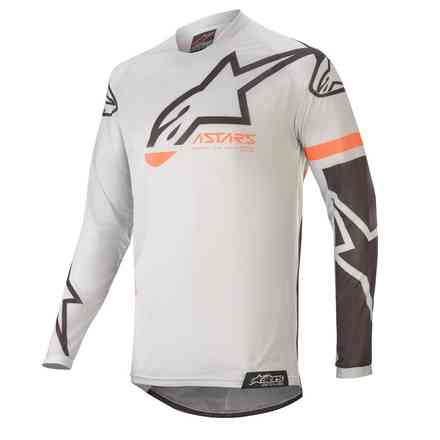 T-shirt Cross Racer Tech Compass Hellgrau Schwarz Alpinestars