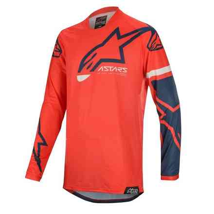 T-shirt Cross Racer Tech Compass Hellrot Navy Alpinestars
