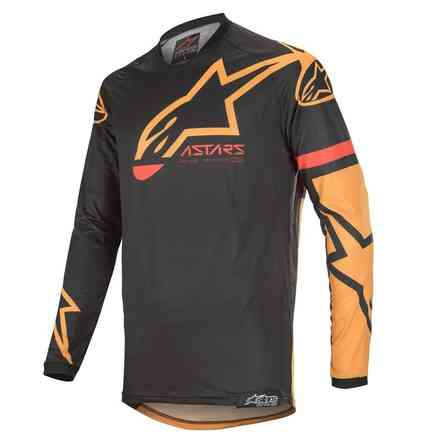 T-shirt Cross Racer Tech Compass Schwarz Orange Alpinestars