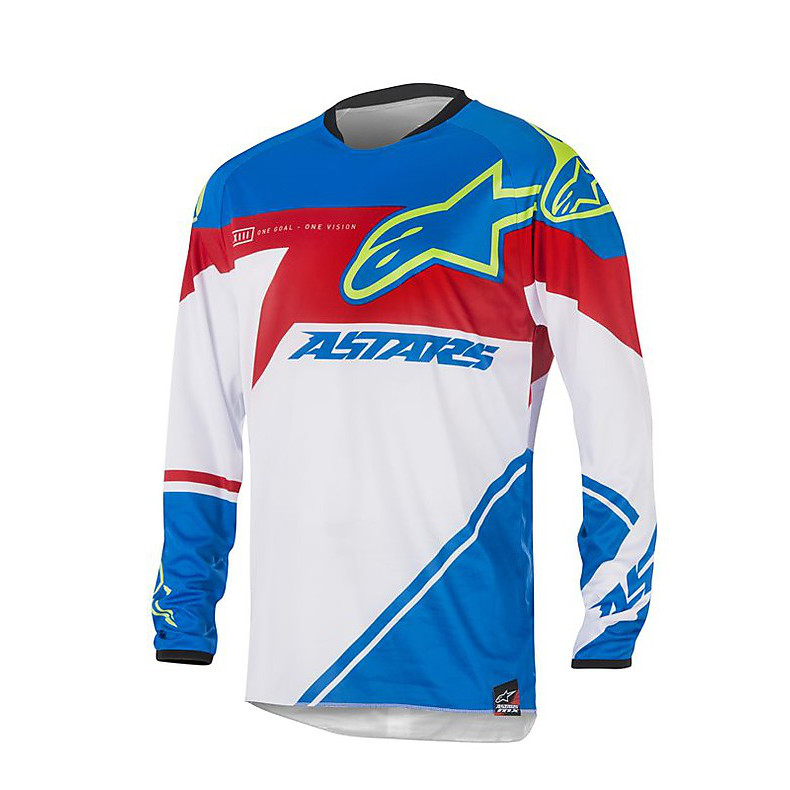 T-shirt cross Supermatic 2016 bleu-rouge-blanc Alpinestars
