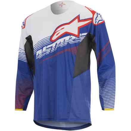 T-shirt cross Techstar Factory blue-white-red Alpinestars