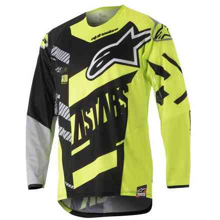 T-shirt cross Techstar Screamer noir jaune fluo gris Alpinestars