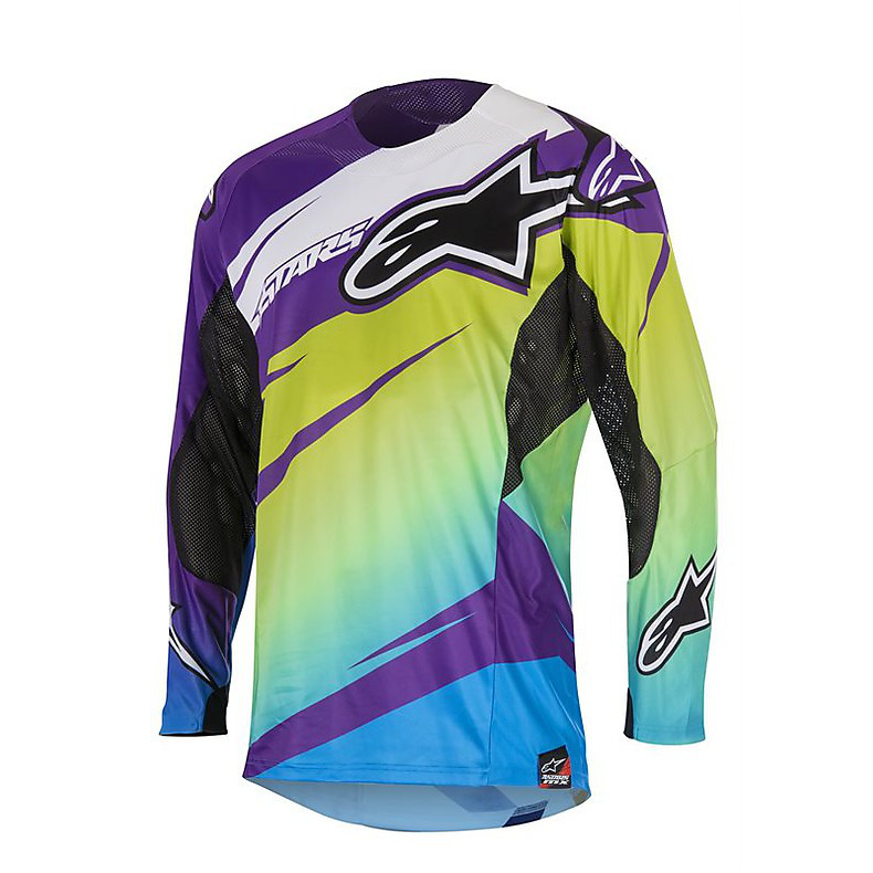 T-shirt cross Techstar Venom 2016 violet-lime Alpinestars