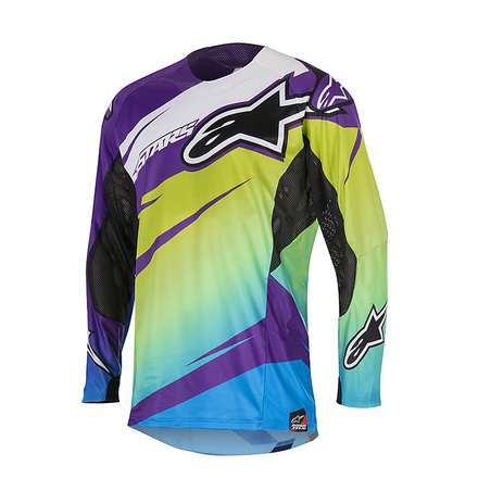 T-shirt cross Techstar Venom 2016 Violett-lime Alpinestars
