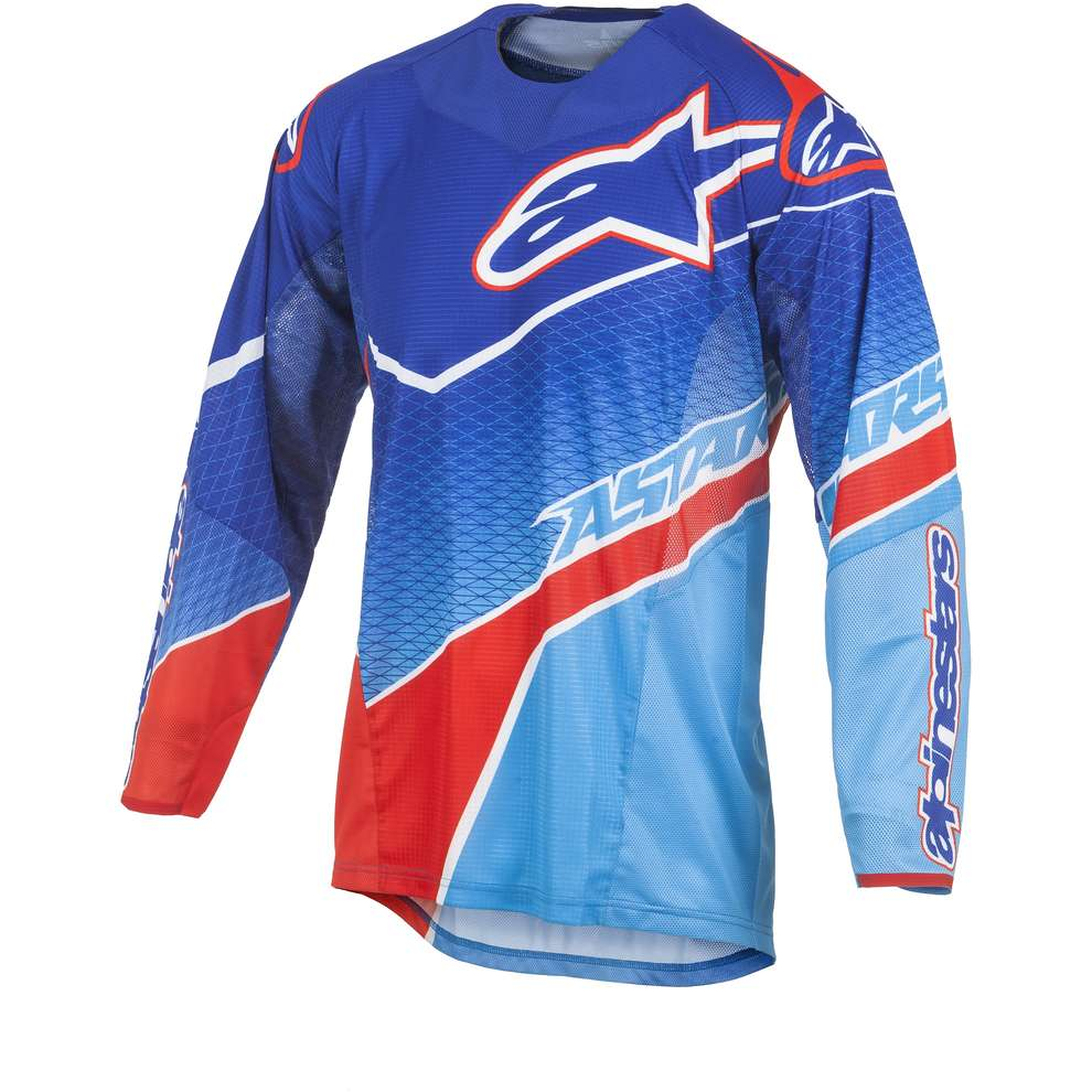 T-shirt cross Techstar Venom bleu-rouge Alpinestars
