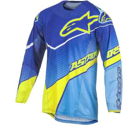 T-shirt cross Techstar Venom blue-yellow fluo Alpinestars