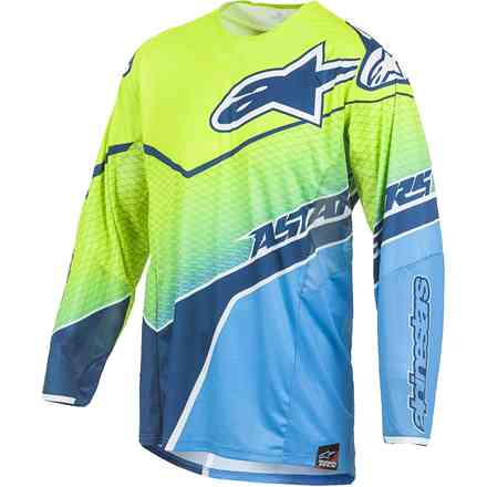 T-shirt cross Techstar Venom yellow fluo-blue Alpinestars