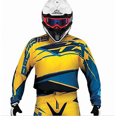 T-shirt cross X-Gear jaune-bleu Acerbis