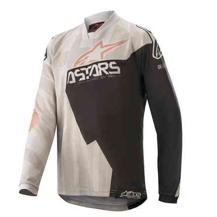 T-shirt Cross Youth Racer Factory Grau Schwarz Alpinestars