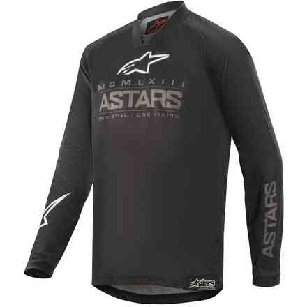 T-shirt Cross Youth Racer Graphite Black Dunkelgrau Alpinestars