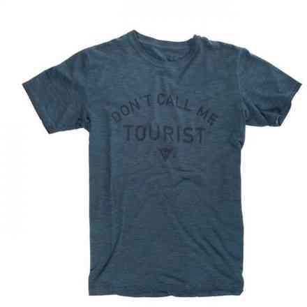 T-Shirt Don't Call Me Tourist navy Dainese