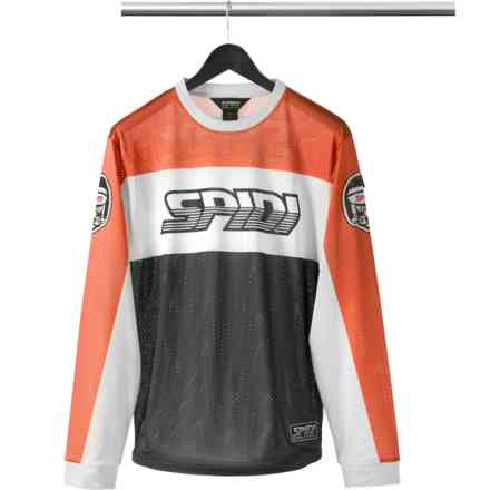 T-Shirt Originals Dirtjersey nero arancio Spidi