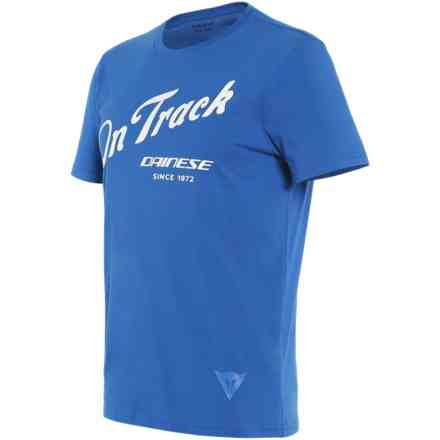 T-shirt Paddock Track Sky-Diver/Bianco Dainese