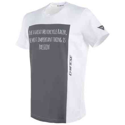 T-shirt Racer-Passion bianco antracite Dainese