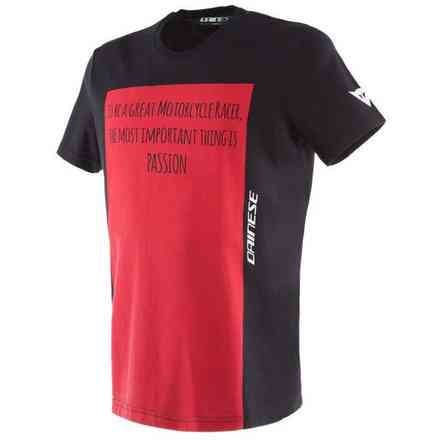 T-Shirt Racer Passion nero rosso Dainese