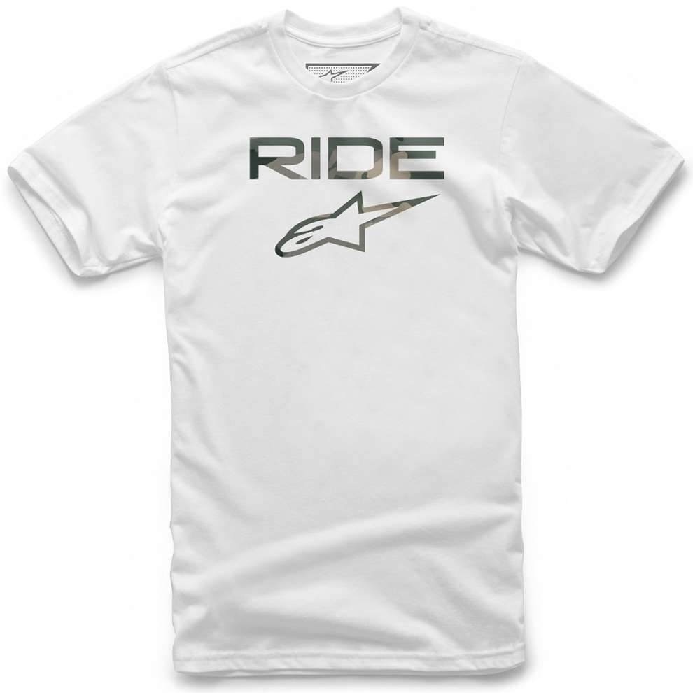 T-shirt Ride 2.0 Camo Bianco Alpinestars