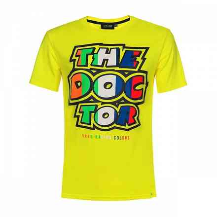 T-shirt Stripes Yellow Fluo VR46