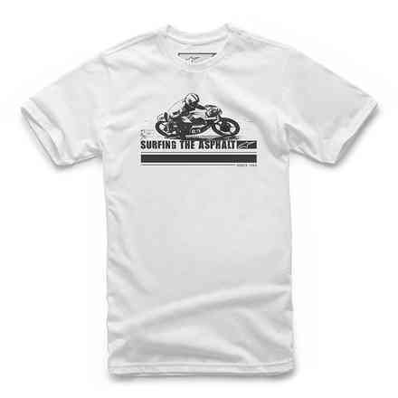T-shirt Surfing The Asphalt Tee Bianco Alpinestars