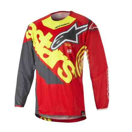 T-shirt Techstar Venom 2018 Red yellow fluo anthracite Alpinestars