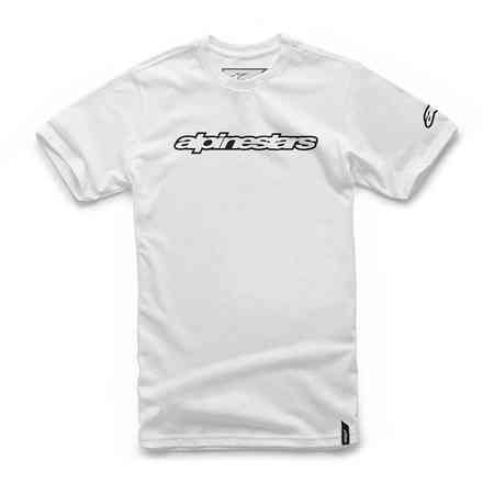 T-shirt Wordmark bianco Alpinestars