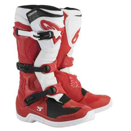 Tech 3 boots red white Alpinestars