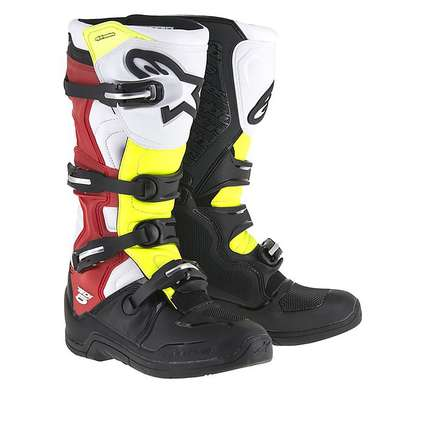 Tech 5 Boots white-black-red-yellow fluo Alpinestars