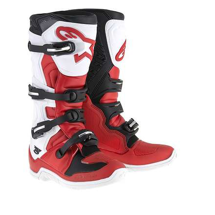 Tech 5 Boots white-black-red Alpinestars