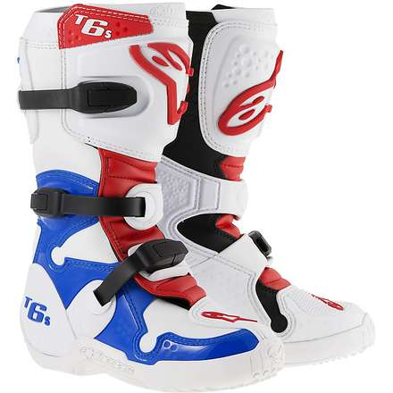 Tech 6 S Child Boots white-blue-red Alpinestars