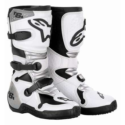 Tech 6 S Child Boots White-Silver Alpinestars