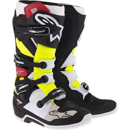 Tech 7 boots black-red-yellow Alpinestars