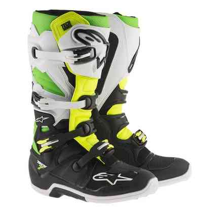 Tech 7 boots black white green yellow fluo Alpinestars
