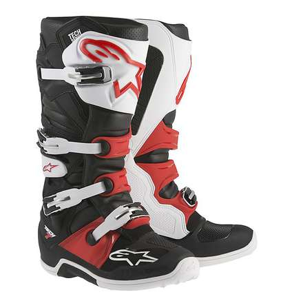 Tech 7 boots black-white-red Alpinestars