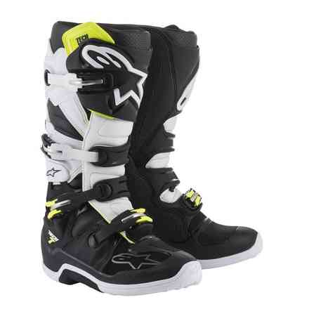Tech 7 boots black white Alpinestars