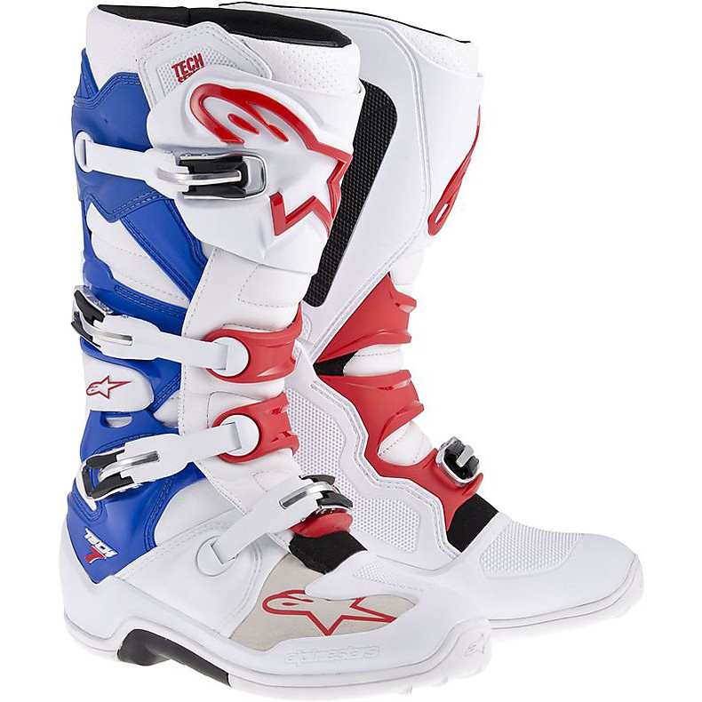 Tech 7 boots white-blue-red Alpinestars