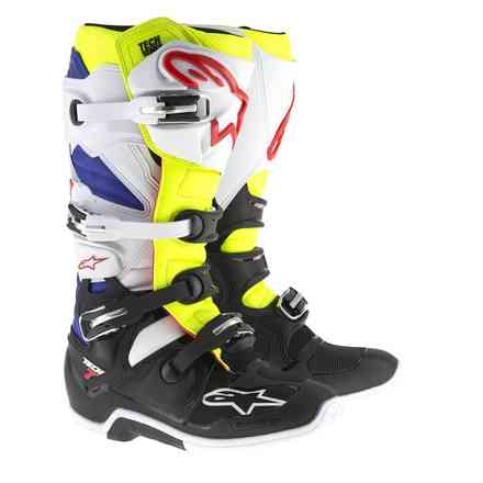 Tech 7 boots White Yellow Fluo Blue Alpinestars