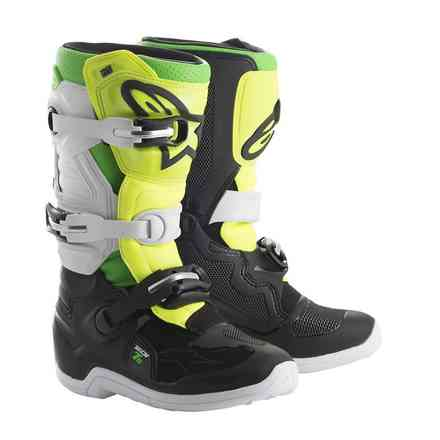 Tech 7 S boots black white yellow fluo green fluo Alpinestars