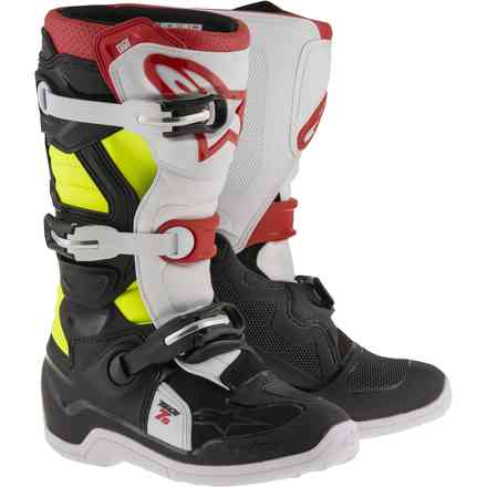 Tech 7S. black red yellow Child Boots Alpinestars